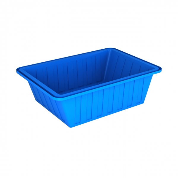 Пластиковая ванна с крышкой объёмом шестьсот литров для питьевой и пищевых продуктов,так же может подойти под агрессивные вещества,по оптовой цене в Москве.