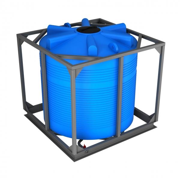 Ёмкость из пищевого пластика (новая),в металлической обрешётке,объёмом пять тысяч литров,идеально подойдёт для пищевой продукции,дизеля или бензина,по низкой цене в Москве.