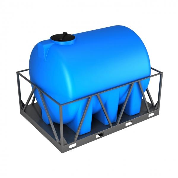 Емкость H 5000 синий в обрешетке