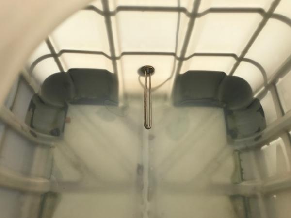Еврокуб 1000 л, б/у, чистый пропаренный с подогревом 1 тэн (поддон металл/пластик)