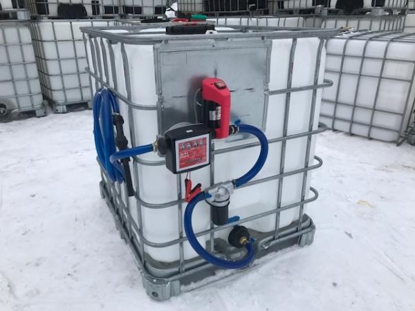 Мини топливозаправочная станция из еврокуба  для дизеляя,солярки по  дешевой цене в Москве.Мобильная автозаправка всегда удобно заправлять технику на стройке.