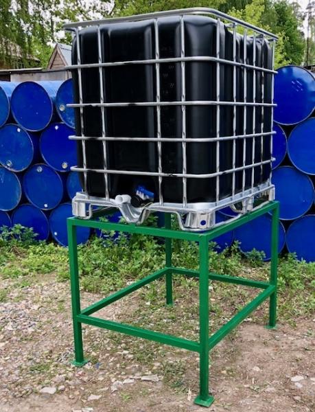 Еврокуб 1000 л, новый, покрытый резиной (поддон металл/пластик)