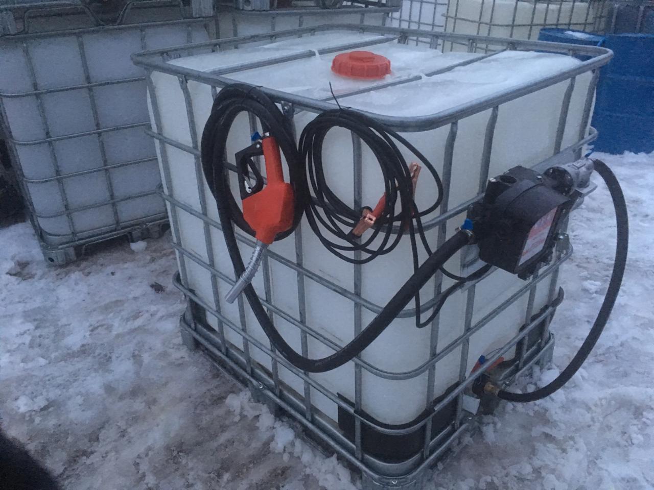 Мини АЗС из еврокуба для бензина 12 V